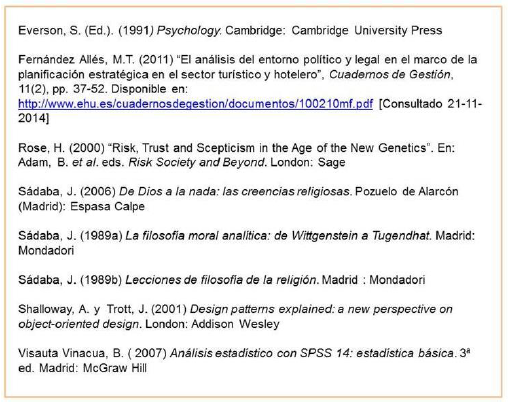 Example of bibliography