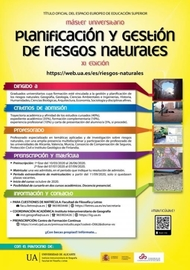 Master in Natural Risk Planning and Management